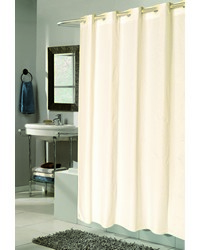 EZ-ON Checks Polyester Shower Curtain in Ivory by