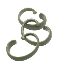 Hang Ease C Type Plastic Shower Curtain Hooks in Sage by