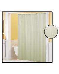 Waffle Weave Polyester Curtain in Ivory by