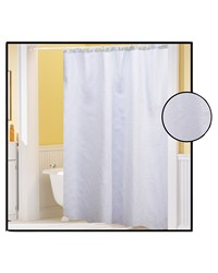 Waffle Weave Polyester Curtain in White by