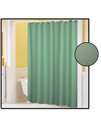 Waffle Weave Polyester Curtain in Sage by