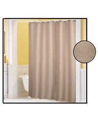 Waffle Weave Polyester Curtain in Linen by