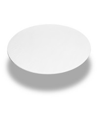 White  60 Inch Round Fitted Vinyl Tablecloth White by