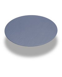 Slate  60 Inch Round Fitted Vinyl Tablecloth Slate by