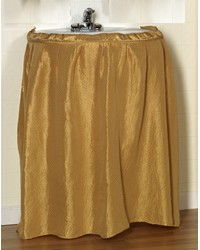Lauren Diamond-Piqued Polyester Sink Drape in Gold by