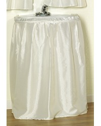 Lauren  Diamond-Piqued Polyester Sink Drape in Ivory by