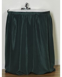 Lauren Diamond-Piqued Polyester Sink Drape in Evergreen by