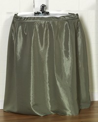 Lauren Diamond-Piqued Polyester Sink Drape in Sage by