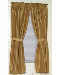 Lauren Diamond-Piqued Polyester Window Curtain in Gold by