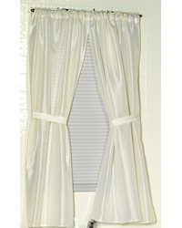 Lauren Diamond-Piqued Polyester Window Curtain in Ivory by