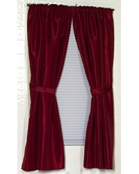 Lauren Diamond-Piqued Polyester Window Curtain in Burgundy by
