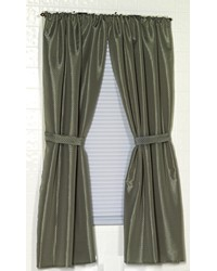 Lauren Diamond-Piqued Polyester Window Curtain in Sage by
