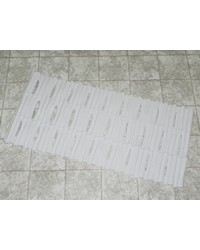 Bamboo Look Vinyl Bath Tub Mat Size 16 x 32 in White by