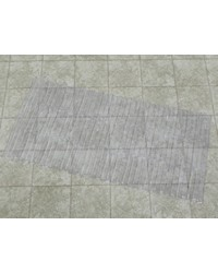 Bamboo Look Vinyl Bath Tub Mat Size 16 x 32 in Super Clear by