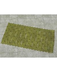 Bamboo Look Vinyl Bath Tub Mat Size 16 x 32 in Green by