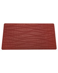 Small Slip-Resistant Rubber Bath Tub Mat in Burgundy by