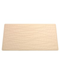 Large Slip-Resistant Rubber Bath Tub Mat in Bone by