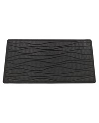 Large Slip-Resistant Rubber Bath Tub Mat in Black by