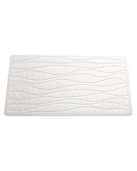LargeSlip-Resistant Rubber Bath Tub Mat in White by