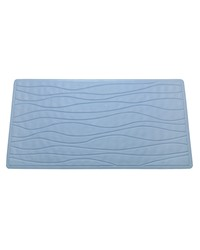 LargeSlip-Resistant Rubber Bath Tub Mat in Slate by