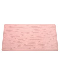 Large Slip-Resistant Rubber Bath Tub Mat in Rose by