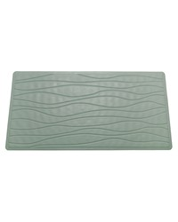 Large Slip-Resistant Rubber Bath Tub Mat in Sage by