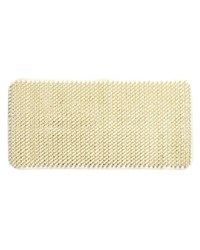 Grass Look Vinyl Bath Tub Mat Size 14 x 26 in Ivory by