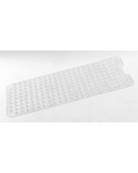 Jumbo Long Slip-Resistant Bath Tub Mat in Super Clear by