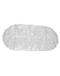Pebbles Vinyl Slip-Resistant Bath Tub Mat in Super Clear by