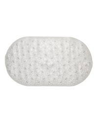 Weave Look Vinyl Bath Tub Mat Size 15x27 in Clear by