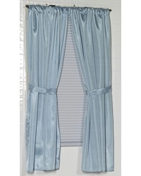 Polyester Fabric Window Curtain in Light Blue by