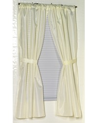 Polyester Fabric Window Curtain in Ivory by