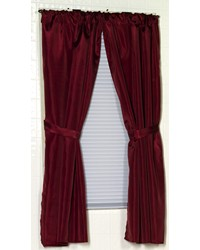 Polyester Fabric Window Curtain in Burgundy by