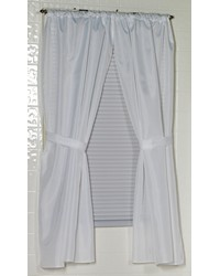 Polyester Fabric Window Curtain in White by