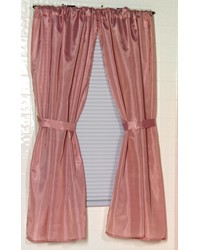 Polyester Fabric Window Curtain in Rose by