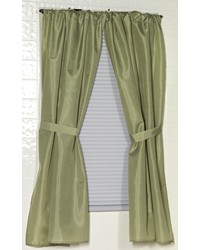 Polyester Fabric Window Curtain in Sage by