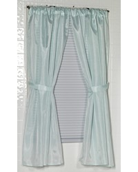 Polyester Fabric Window Curtain in Spa Blue by