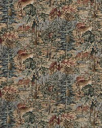 Green Animal Tapestry Fabric  Wilderness 1016