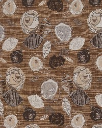 Brown Modern Floral Designs Fabric  Nutmeg Bloom 1373