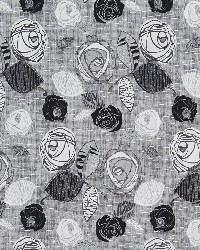 Black Modern Floral Designs Fabric  Onyx Bloom 1374
