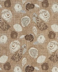 Brown Modern Floral Designs Fabric  Latte Bloom 1375