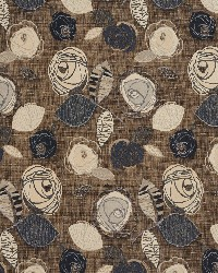 Brown Modern Floral Designs Fabric  Slate Bloom 1378