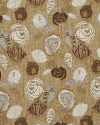 Brown Modern Floral Designs Fabric  Sand Bloom 1379