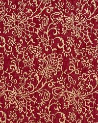 Red Classic Paisley Fabric  Crimson/garden 2607