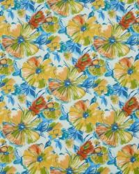 Blue Large Print Floral Fabric  4610 Cozumel