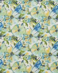 Blue Large Print Floral Fabric  4613 Bermuda