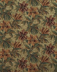 Green Large Print Floral Fabric  6864 Cypress/Tropic