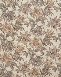 White Large Print Floral Fabric  6865 Stucco/Tropic