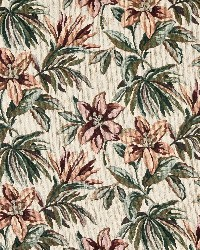White Large Print Floral Fabric  6867 Opal/Tropic