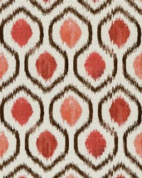 White Shades Of Coral Fabric Charlotte Fabrics CB800-110